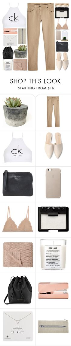 """LIA"" by jess-innes ❤ liked on Polyvore featuring Brunello Cucinelli, Calvin Klein, Acne Studios, Cosabella, NARS Cosmetics, The Body Shop, Maison Margiela, Kenneth Cole, Tom Dixon and Dogeared"