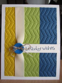 Birthday Greeting Card Stampin Up Embossed by HawaiiPaperParty, $5.00