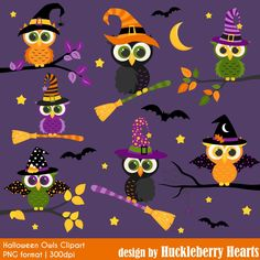 80% OFF SALE Halloween Clipart, Halloween Owls, Owl Clipart, Fall, Printable, Commercial Use by HuckleberryHearts on Etsy https://www.etsy.com/uk/listing/458820214/80-off-sale-halloween-clipart-halloween