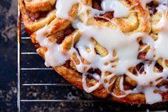 Apple Cinnamon Rolls with Jack Daniels Cream Cheese Frosting