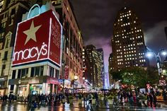 Herald Square on a wet and misty night. New York City Shopping, Misty Night, Herald Square, Times Square, Nyc, Travel, Viajes, Traveling, Trips