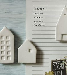 Loving these simple house magnets, so cute!
