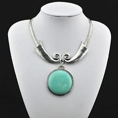 Jewelry+Statement+Necklaces+Party+/+Daily+Alloy+Women+Green+Wedding+Gifts+–+USD+$+13.99