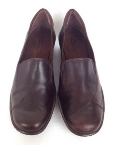 Clarks Shoes Womens Brown Leather Loafers 8.5 #Clarks #LoafersMoccasins #WeartoWork