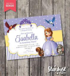 Princess Sofia Invitation Printable Kids Party by StarDustParty