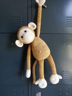 Monkey in hood pattern Crochet Quilt, Crochet Bear, Cute Crochet, Crochet For Kids, Crochet Animals, Crochet Dolls, Crochet Monkey Pattern, Easy Crochet Patterns, Teddy Bear Design
