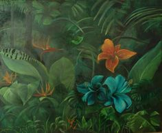 Brassai Gabi: Jungle oil on canvas