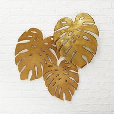 Monroe Monstera Leaves Wall Decor | CB2