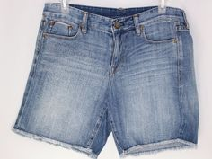J Crew Womens Cut Off Jean Denim Shorts Size 28 #JCrew #CasualShorts