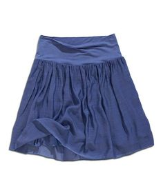 Another great find on #zulily! Lavender Blue Ruched Miniskirt #zulilyfinds