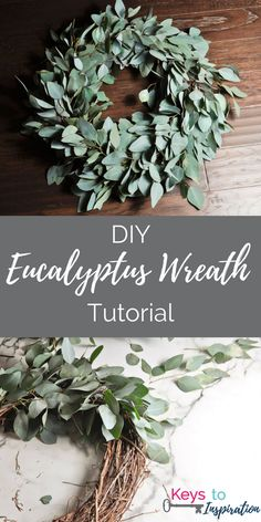Create a gorgeous fresh eucalyptus wreath! This wreath is not only stunning, but smells amazing too. Perfect for decorating your home or even a wedding.
