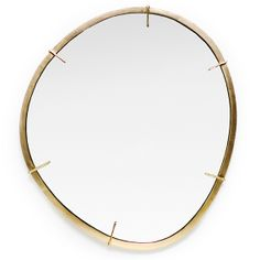Agate Mirror - Dering Hall - hand-cast brass mirror, inspired by Agate slice pendants. (=)