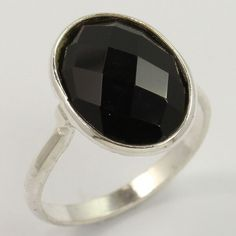 925 Sterling Silver Delicate Ring Size US 5.25 Real BLACK ONYX Gemstone Handmade #Unbranded Sterling Silver Jewelry, Gemstone Jewelry, Jewelry Rings, Black Onyx Ring, Black Rings, Silver Jewellery Indian, Delicate Rings, Girls Jewelry, Gemstones