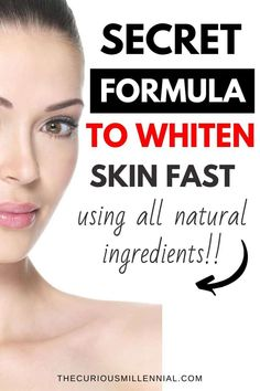 I am going to show you how to whiten skin fast at home and get that fair, glowing, and super soft skin instantly in 3 easy steps. Home Remedies For Skin, Skin Care Remedies, Remedies For Glowing Skin, Natural Skin Whitening, Natural Skin Care, Whitening Skin Care, Skin Secrets, Diy Beauty Secrets, Home Beauty Tips