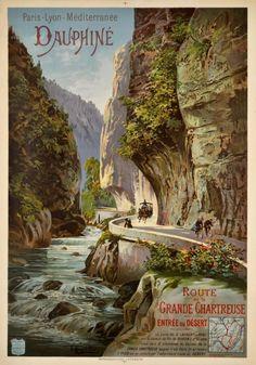 Dauphiné, Route de la Grande Chartreuse, entrée du désert PLM
