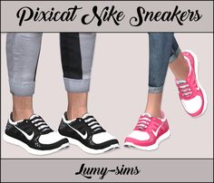 "lumy-sims: "" Pixicat Nike Sneakers • For Female , Male and Children • They work with sliders • 40 Swatches • Custom Catalog Thumbnails • Credits: to @pixicat DOWNLOAD """