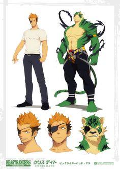 Beast Rancer Chris Date by javidavie on DeviantArt Fantasy Character Design, Character Design Inspiration, Character Concept, Character Art, Concept Art, Fantasy Characters, Anime Characters, Image Manga, Anime Furry