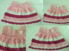 Resultado de imagem para modelos vestido um aninho;sobrinha;trico;croche