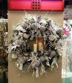Christmas Snow White Wreath