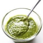 Pour pesto to an ice tray and freeze for 30 minutes. Transfer frozen pesto cubes to a zip top freezer bag or other airtight, freezer-safe container and store for up to a year. Side Dish Recipes, Veggie Recipes, Appetizer Recipes, Cooking Recipes, Healthy Recipes, Appetizers, Homemade Spices, Pesto Sauce