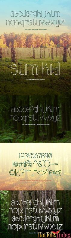 CreativeMarket   Slim Kid Typeface From HotFileIndex
