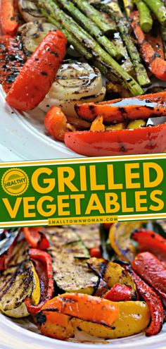 Looking for a healthy summer salad to pair with your grilled meat? This vegetable salad idea is for you! Keep the grill burning with these vegetables grilled to perfection and topped with a balsamic reduction sauce! Grilled Vegetable Salads, Grilled Vegetables, Vegetable Dishes, Vegetable Recipes, Vegetable Bake, Healthy Grilling, Grilling Recipes, Vegetarian Recipes, Healthy Recipes