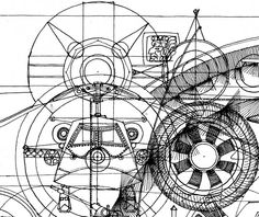 I have always been fascinated with machines and war. This drawing is a collage of the machinery of war: tanks, attack helicopters, missiles, artillery and bomber aircraft. In the center is the cockpit view of an aircraft on a runway getting ready for takeoff, surrounded by instrumentation and mechanical structures. #sciencefictionart #symmetricalart #spacecraft #spaceshipart #symmetricalart #steampunk #mechanical #machinery