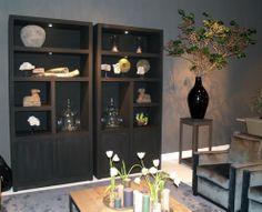 Bookshelves in light colour is possible as well. Or Vitrine! Bookshelves, Bookcase, Interior Architecture, Interior Design, Rotterdam, Light Colors, Furniture Design, Study, Living Room