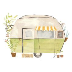 Today I drew a caravan ! More colourful than my usual illustrations, not sure if I like it but it's done I wish you a great Saturday evening ! Retro Caravan, Retro Campers, Magazine Illustration, Photo Illustration, Hipster Illustration, Camper Drawing, Frankie Magazine, Flow Magazine, Travel Images
