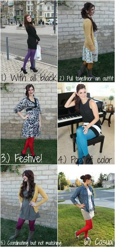 6 ways to wear colored tights