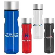 "30 Oz Customized Column Water Bottle - 4 Colors: Available Colors: Black, Blue, Clear, Red Product Size: 10-1/2"" h x 3"" diameter Imprint Area: 3"" h x 2 1/4"" w. Carton Weight: 21 lbs. Packaging: 25. Material: Tritan material - BPA free. #customwaterbottle #promotionalproduct #columnwaterbottle"