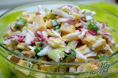 Ředkvičkový salát se sýrem | NejRecept.cz Cooking Recipes, Healthy Recipes, Vegetable Salad, Coleslaw, Desert Recipes, Bon Appetit, Pasta Salad, Potato Salad, Food Porn