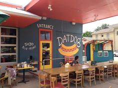 The original Freret Street location for fancy dogs. Try the duck special with blackberry sauce, or the crawfish etouffe dog.