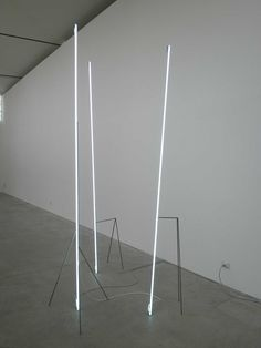 Neon Light Installation, modulo verticale  by Massimo Uberti