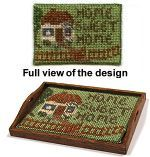 Miniature Needlepoint Tray Cloth kit - Cottage
