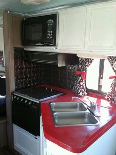 Rv Countertop Options : rv kitchen remodel - minus the microwave for us. trying to figure out ...