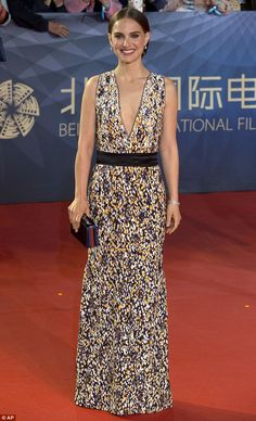 Natalie Portman stunned in a Dior gown at the 6th Beijing International Film Festival on April 16, 2016