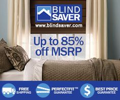 thivest'sblog.com :Blindsaver : Save 35% on Levolor Products     Buy 3 - Get 1 Free on Kristen Cunningham Studio Blinds through 8/31! No promo code necessary.  Save 35% on Levolor Products. Valid thorugh 8/23.   Save 35% on Bali Products. Valid through 8/31.