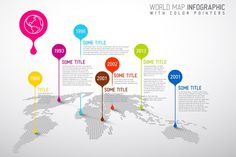 World Map Infographic with Droplets - Presentations