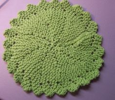 This is the round dishcloth I've been making for years! I cast on thirteen stitches instead of fifteen and can two complete dishcloths out of 2 ounce ball of cotton yarn.
