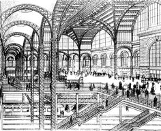 AD Classics: Pennsylvania Station,Drawing of the concourse and tracks, published in the New York Times in 1906
