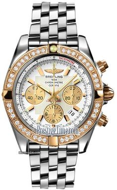 Breitling Chronomat 44 $13,936 #Breitling #watch #watches #chronograph gold/steel case with steel bracelet and automatic movement