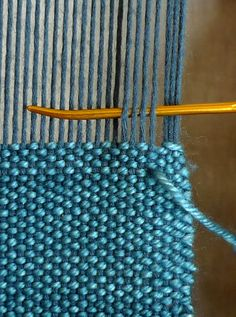 Finishing with Hemstitch Weaving For Kids, Weaving Art, Loom Weaving, Hand Weaving, Inkle Weaving Patterns, Tanis Fiber Arts, Yarn Wall Art, Hem Stitch, Beading Patterns Free