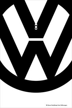 #Volkswagen Ads Use Logo And Negative Space To Promote Car Features - DesignTAXI.com