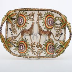 Ardmore Ceramics Leopard Tray AAA