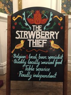 Related image The Strawberry Thief, Chalkboard Quotes, Art Quotes, Commercial, Beer, Exterior, Ideas, Image, Root Beer