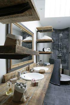 20 rustic bathroom design - The Grey Home