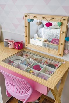 Vestiário - Uebaa Design - Lilly is Love Girls Room Design, Kids Bedroom Designs, Baby Bedroom, Girls Bedroom, Bedroom Decor, Toddler Rooms, Toddler Bed, Kids Room Furniture, Daughters Room