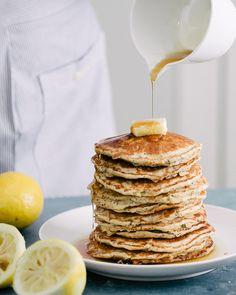Lemon Poppy Seed Oat Pancakes {Gluten-Free} | A Couple Cooks