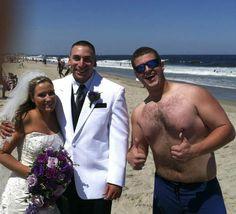 Noah Carpenter With Newlyweds At Manasquan, Jersey Shore | http://weddingsinthesky.blogspot.com/2013/02/noah-carpenter-greatest-wedding-crasher.html